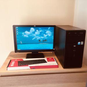"DESKTOP HP / COMPUTER/ ΥΛΕΚΤΡΟΝΙΚΟΣ ΥΠΟΛΟΓΙΣΤΗΣ COMPAQ PENTIUM 4 HT (WINDOWS XP) ΜΕ ΟΘΟΝΗ HP 19"" LCD  WIDE SCREEN (Η) NEC AccuSync 17"""