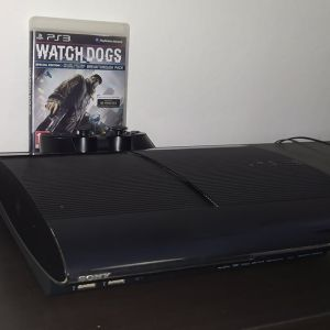 Sony PlayStation 3 (PS3) Super Slim Charcoal Black + Watch Dogs