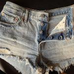 Levis reworked denim shorts