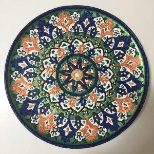 Πιάτο τοιχου, αναπαλαιωμένα με τεχνική point paint
