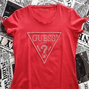 Επώνυμο t shirt με στρας κοκκινο