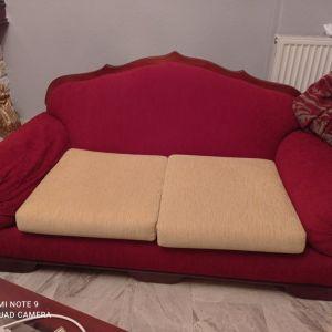 Τριθεσιος+διθέσιος καναπές+πολυθρόνα+τραπέζακι σαλονιού