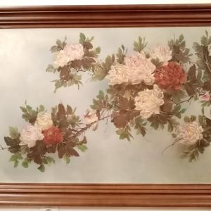 Πίνακας ζωγραφικής με θέμα πολύχρωμα λουλούδια