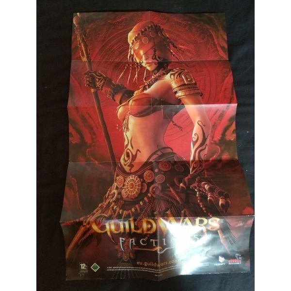 Guild Wars Faction poster afthentiki afisa sillektiki dio plevron apo to ipertato rpg pechnidi pou ipirxe pote