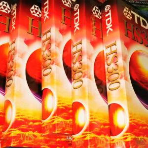 ΒΙΝΤΕΟΚΑΣΕΤΕΣ 6 TDK HS 300 VHS  5 ΩΡΩΝ  ΦΥΣΙΚΑ ΚΛΕΙΣΤΕΣ ΜΕ ΤΗ ΖΕΛΑΤΙΜΗ ΤΟΥΣ