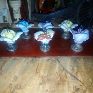 Πορσελάνη με σμάλτο λουλούδια στολίδια