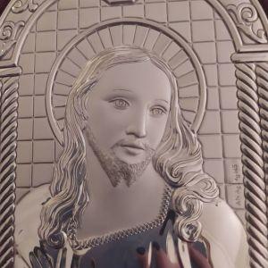 Ασημένια εικόνα του Χριστού