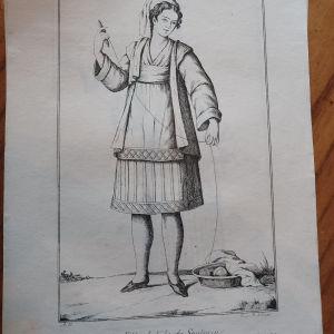 1802 ΣΑΝΤΟΡΊΝΗ παραδοσιακή φορεσιά  Νέας