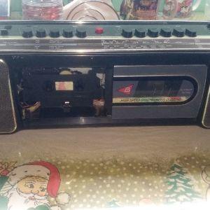 fisher διπλό ραδιοκασετοφωνο