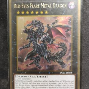 Red- Eyes Flare Metal Dragon Gold Rare