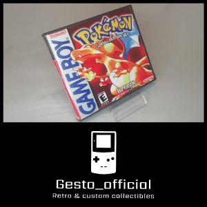 Pokemon Red Gameboy custom case