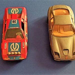4 αυτοκινητάκια Ferrari της Burago, δεκαετίας '90