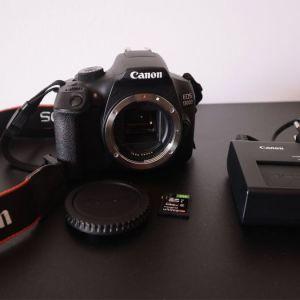 Canon EOS 1300D (EF 50mm f/1.8 STM) Black + τσάντα μεταφορας + κάρτα μνήμης 8gb