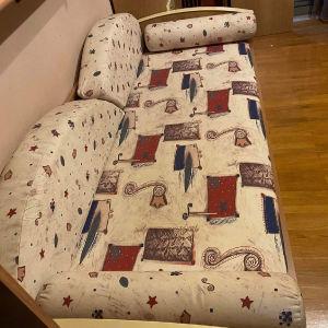 Σύνθεση δωματίου καναπές κρεβάτι με 2 γραφεία