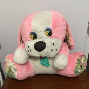 Πωλείται Μεγάλο Ροζ Λούτρινο Σκυλάκι