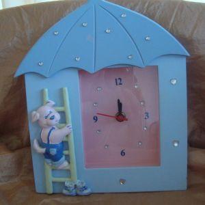 Ξύλινο ρολόι παιδικό