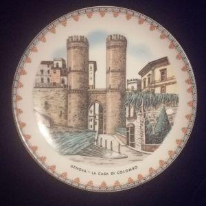 Παλιό αναμνηστικό πιάτο Ιταλίας.