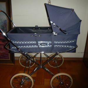 """Καρότσι παιδικό """"Marmet"""" Vintage σε άριστη κατάσταση (χρησιμοποιημένο) -  <Vintage English Marmet Pram Navy Blue Baby Stroller Carriage>"""