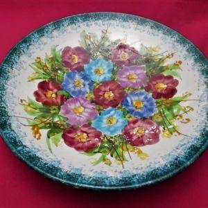 Παλιό χειροποίητο μεγάλο πιάτο της εταιρίας  Κεραμεικός.