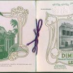 """ΤΣΙΓΑΡΑ. """" DIMITRINO  & Co. """" ΤΕΥΧΙΔΙΟ ΜΕ ΑΝΑΓΛΥΦΑ ΕΞΩΦΥΛΛΑ ΚΑΙ ΕΓΧΡΩΜΕΣ ΑΠΕΙΚΟΝΙΣΕΙΣ ΤΣΙΓΑΡΩΝ ΤΗΣ ΓΝΩΣΤΗΣ ΚΑΠΝΟΒΙΟΜΗΧΑΝΙΑΣ ΤΟ 1915 ΣΤΟ ΚΑΪΡΟ"""