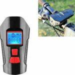 Φακός LED Ποδηλάτου με ταχύμετρο και κόρνα USB επαναφορτιζόμενο αδιάβροχο FY-317
