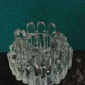 """Κηροπήγιο Kosta Boda """" Polar"""" 1960-1969. Κρύσταλλο Σουηδίας"""