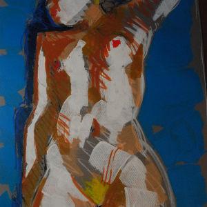 3 μοντελα 3 ποζες 3 τροποι σε λαδι  . ζωγραφος αντωνης στεφανακος