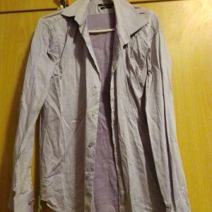πουκάμισο ριγέ μωβ αντρικό berto lucci large ελάχιστα χρησιμοποιημένο