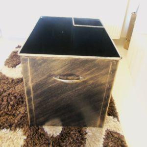 Μεταλλικό Κουτί αποθήκευσης ξύλων και εργαλείων τζακιού.