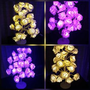 Επιτραπέζιο φωτιστικό τριανταφυλλιά σε 2 υπέροχους led φωτισμους