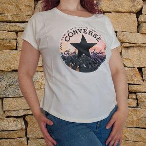 Converse t-shirt λευκό