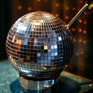 Rare Absolut Elyx Large Glitterball Ice Bucket Punch Bowl