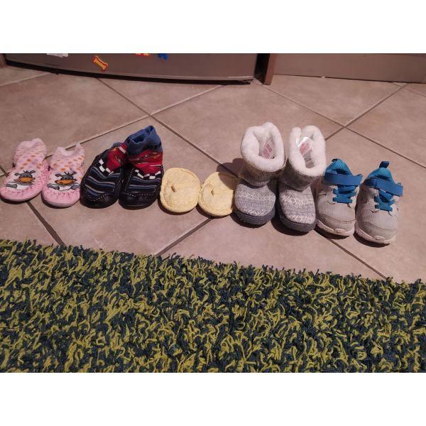papoutsia Nike noumero 22 ke 4 zevgaria pantofles!