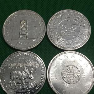 Ασημένια δολάρια Καναδά.