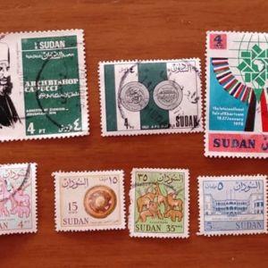Γραμματόσημα από Σουδάν Συλλεκτικά Άριστη Κατάσταση 13 τεμάχια