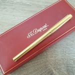 S.T. Dupont Classic Rollerball Pen - Gold Rings Pattern Συλεκτικο Στυλό