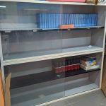 Ανοξείδωτες ποτηριέρες/ράφια /βιτρίνες με συρόμενα κρύσταλλα 180x80x40, τιμή και για τις 2 μαζί