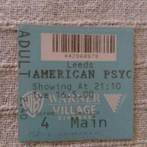 Απόκομμα Εισιτηρίου Ταινίας American Psycho (16/05/2000)