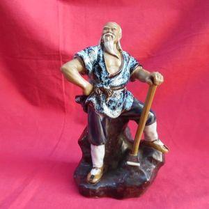 Αντίκα παραδοσιακό Κινέζικο κεραμικό άγαλμα shiwan Mudman.