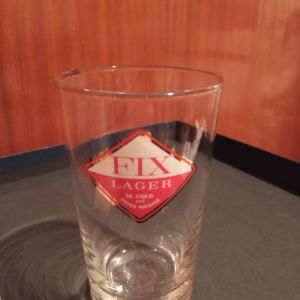 FIX LAGER κοκκινος ρόμβος παλαιο ποτηρι