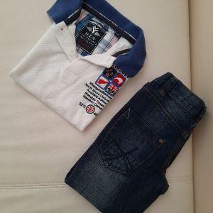 Σετ τζην μπλούζα πόλο 4 χρονών (104cm)