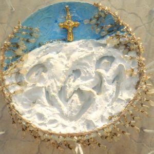 Χειροποίητο Διακοσμητικό πιάτο τοίχου  διαμέτρου 27cm