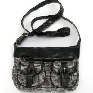 Τσάντα Ώμου ή Χιαστί Καρό με Ρυθμιζόμενο Λουρί