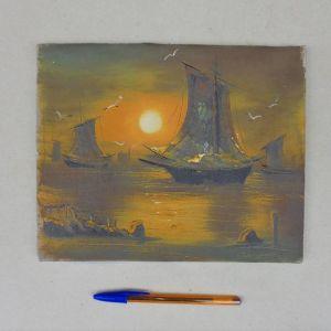 Πίνακας ελαιογραφία σε μουσαμά, ολλανδέζικος.