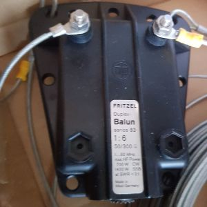 Fritzel Balun 1: 6 Series 83 COM for wire antennas Duplex