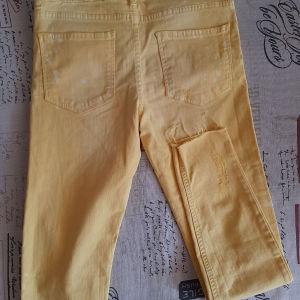 Κίτρινο καλοκαιρινό τζιν παντελόνι zara