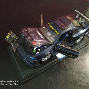 Kentoys die-cast 1:12 Extreme Tuner blue Nissan Silvia S-15 model