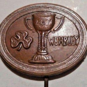 παλιό συλλεκτικό pin καρφίτσα Παναθηναϊκός Panathinaikos τελικός Wembley 1971