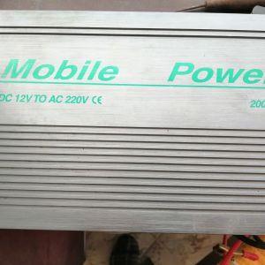 INVERTER MOBILE 12V TO 220V 2000W
