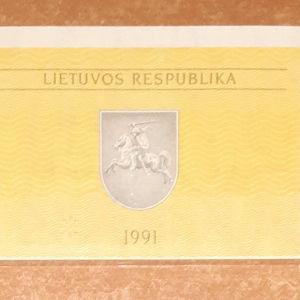 UNC 0,1 Talonas 1991 , Lithuania